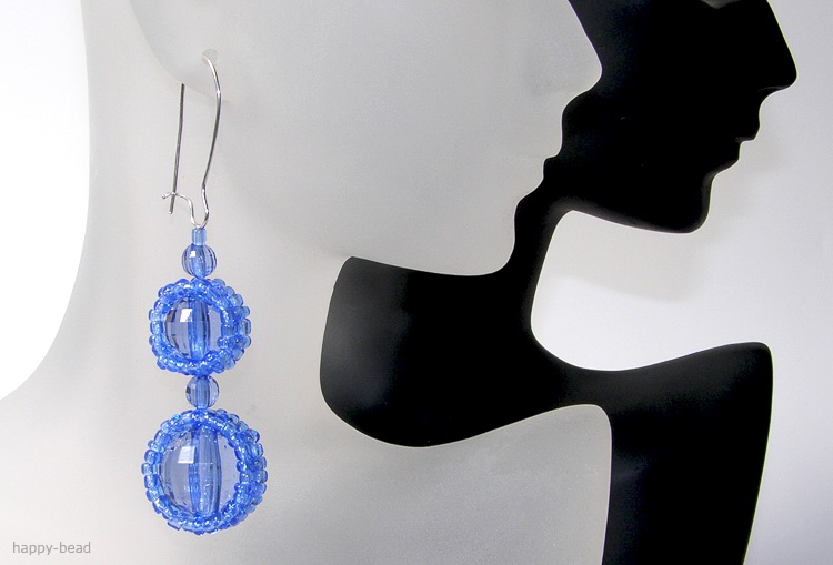 Ear rings «Dark blue caramel»