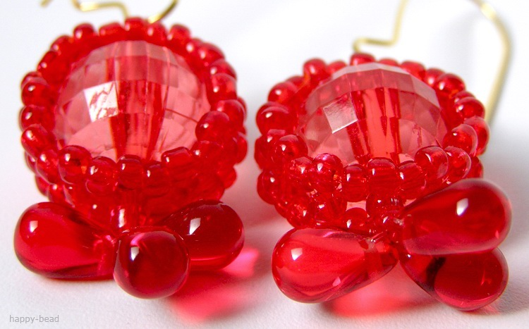 Ear rings «Red caramel»