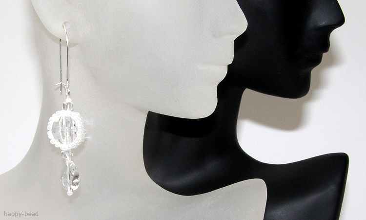 Ear rings «White caramel»