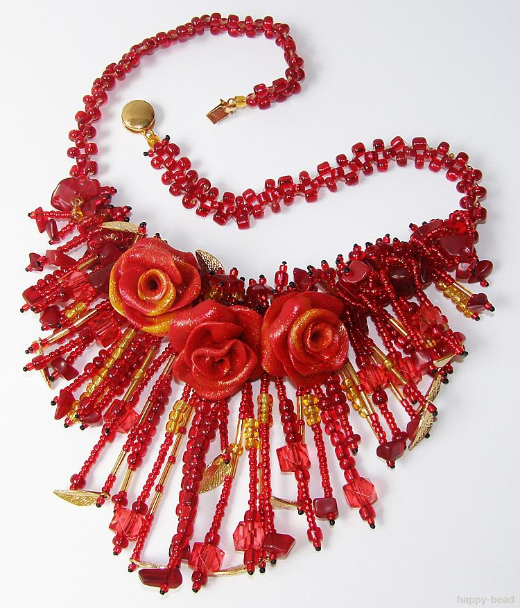 Necklace «Fiery passion»