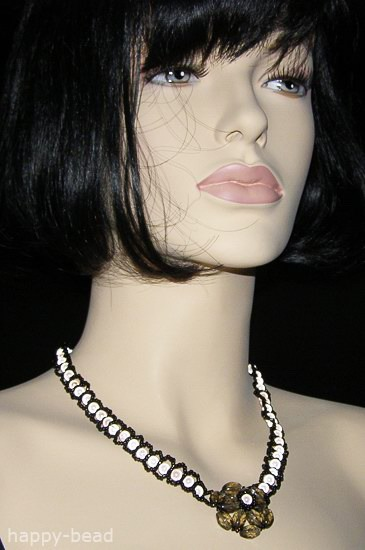 Necklace «Tender evening»