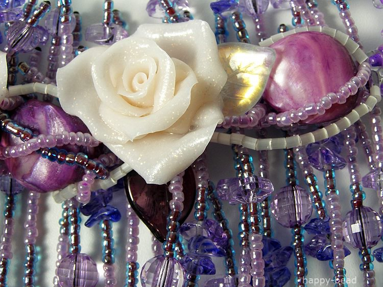 Necklace «Lilac falls»