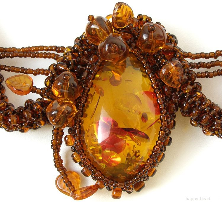 Necklace «Amber charm»